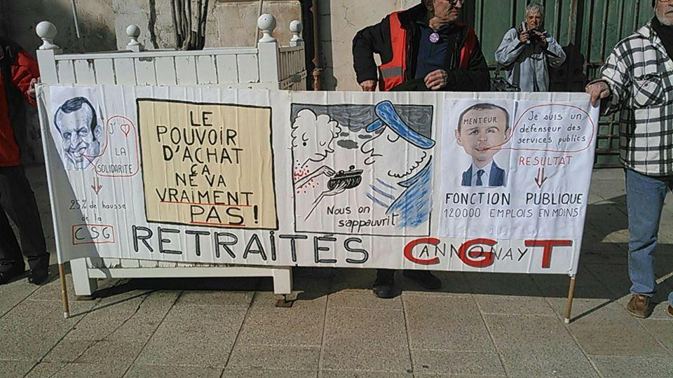 """Manif Annonay """"Les retraités contre la CSG"""" 14H 30 place des cordeliers"""