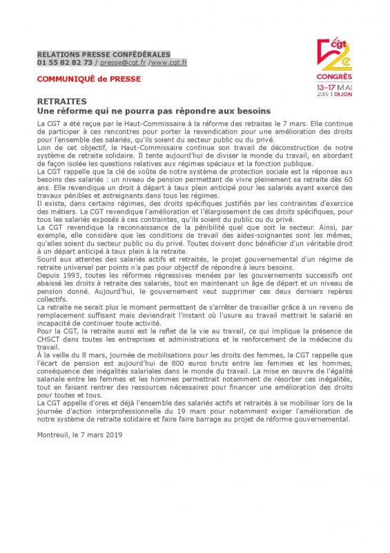 50 communique de la cgt retraites une reforme qui ne pourra pas repon page 001