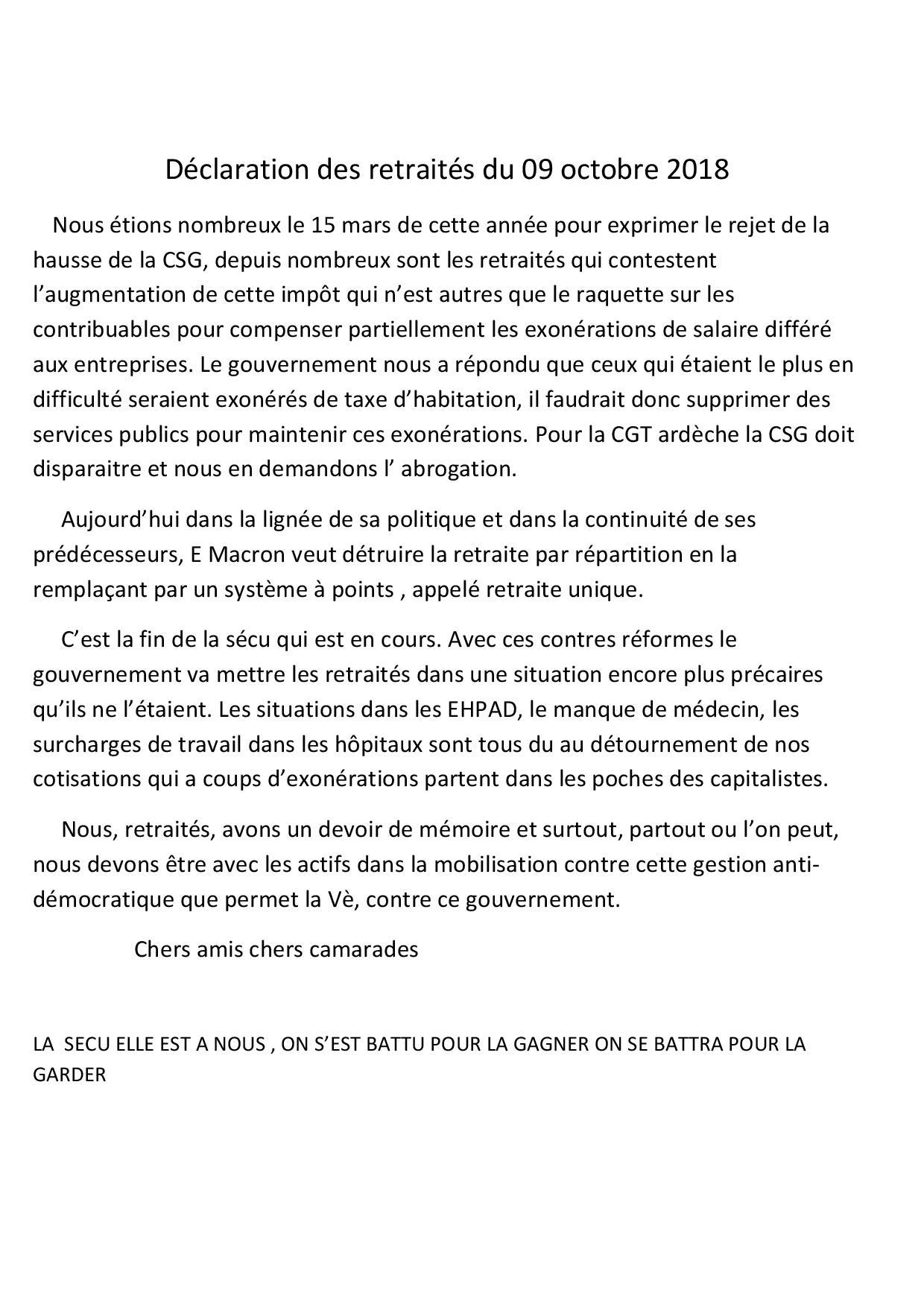 Declaration des retraites du 09 octobre 2018 page 001