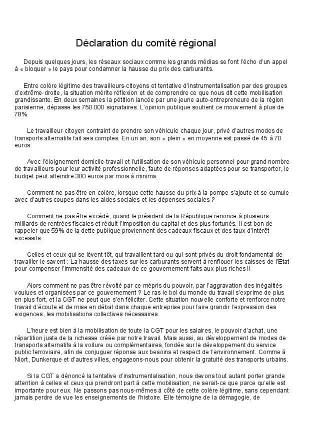 Declaration du comite regional page 4